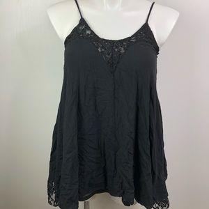 Umgee Black Lace Tank Tunic size Medium